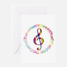 Music in the Round Greeting Card