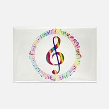 Music in the Round Rectangle Magnet