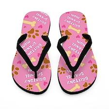 Brittany Spaniel Mom Gift Flip Flops