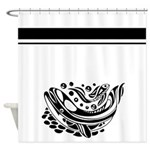 Black and White Whale ArtShower Curtain