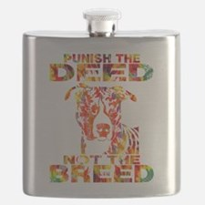 PUNISH THE DEED NOT THE BREED TD2E Flask