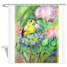 Gold finch! Bird art! Shower Curtain
