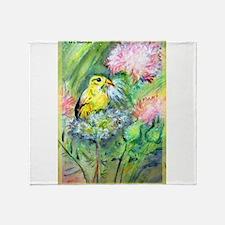 Gold finch! Bird art! Throw Blanket
