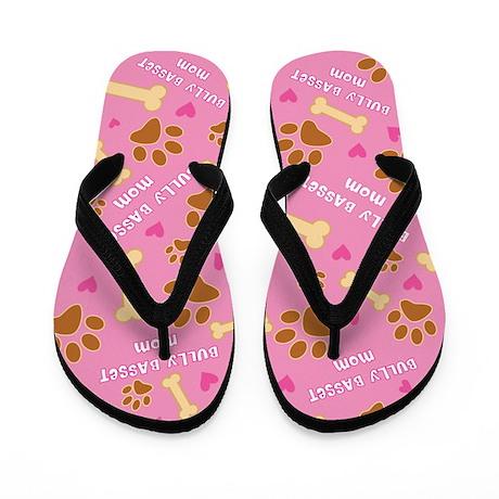Bully Basset Mom Gift Flip Flops