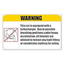 Turbo Boost No Bra Stickers