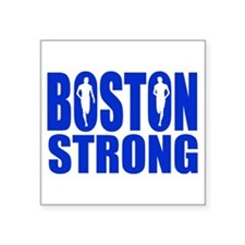 "Boston Strong Blue Square Sticker 3"" x 3"""