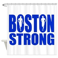 Boston Strong Blue Shower Curtain
