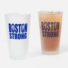 Boston Strong Blue Drinking Glass