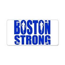 Boston Strong Blue Aluminum License Plate