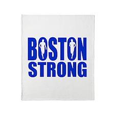 Boston Strong Blue Throw Blanket