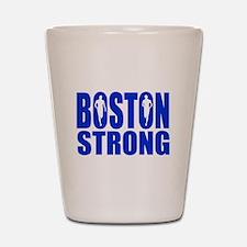 Boston Strong Blue Shot Glass