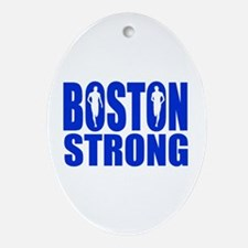 Boston Strong Blue Ornament (Oval)