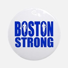 Boston Strong Blue Ornament (Round)