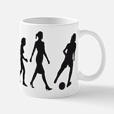 evolution female soccer player Tasse