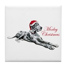 Great Dane Merley Xmas UC Tile Coaster