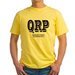 QRP front - HFPACK back Ham Radio Yellow T-Shirt