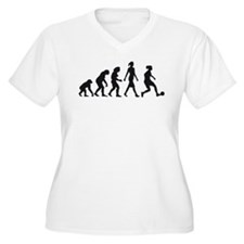 evolution female soccer player Plus Size T-Shirt