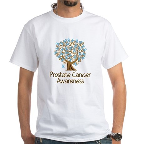 Prostate Cancer Awareness White T-Shirt