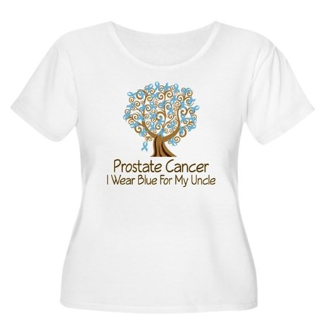 Prostate Cancer Uncle Women's Plus Size Scoop Neck