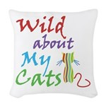 Wild about My Cats Woven Throw Pillow