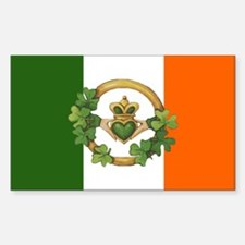 Irish Flag & Claddagh Decal
