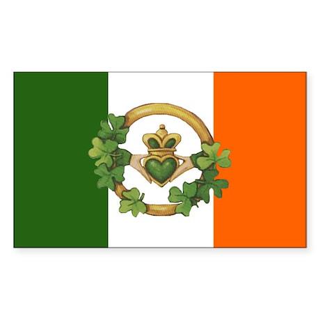 Irish Flag & Claddagh Sticker