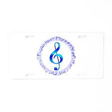 Music Goes Round Aluminum License Plate
