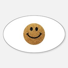 Gold faux glitter smiley face Decal