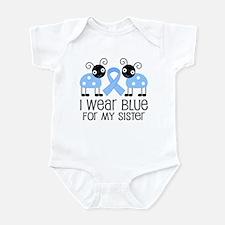 Sister Light Blue Awareness Infant Bodysuit