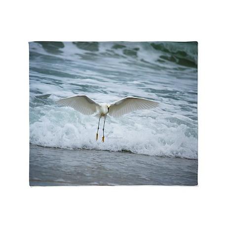Born of sea-foam Throw Blanket