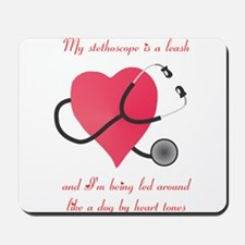 Stethoscope Leash Mousepad