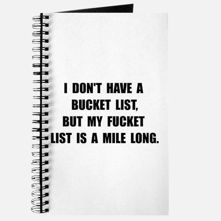 Bucket Fucket List Journal
