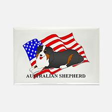 Australian Shepherd Dog USA Rectangle Magnet