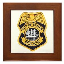 Tampa Police Framed Tile