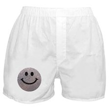 Silver faux glitter smiley face Boxer Shorts