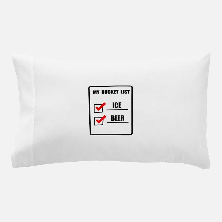 Bucket List Beer Pillow Case