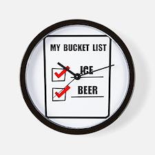 Bucket List Beer Wall Clock