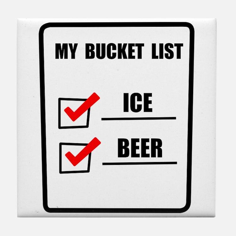 Bucket List Beer Tile Coaster