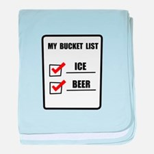 Bucket List Beer baby blanket