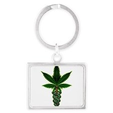 Cute Weed Landscape Keychain