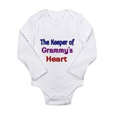 The keeper of Grammys Heart Body Suit
