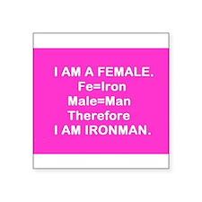 Iron Man (Female) Fe + Male = Iron Man Sticker