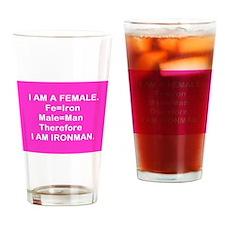 Iron Man (Female) Fe + Male = Iron Man Drinking Gl