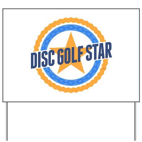 Disc Golf Star Yard Sign