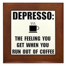 Depresso Coffee Framed Tile