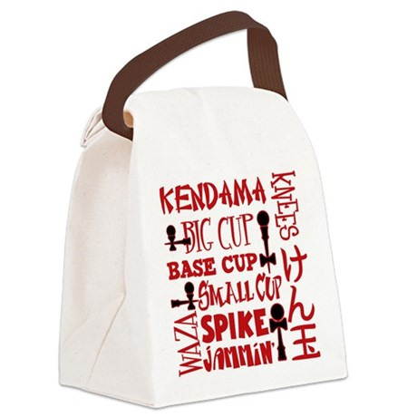 Kendama Block Canvas Lunch Bag