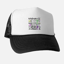 Kendama Block Trucker Hat