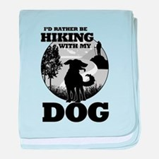 I'd Rather Be Hiking With My Dog Scene baby blanke