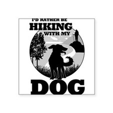 I'd Rather Be Hiking With My Dog Scene Sticker