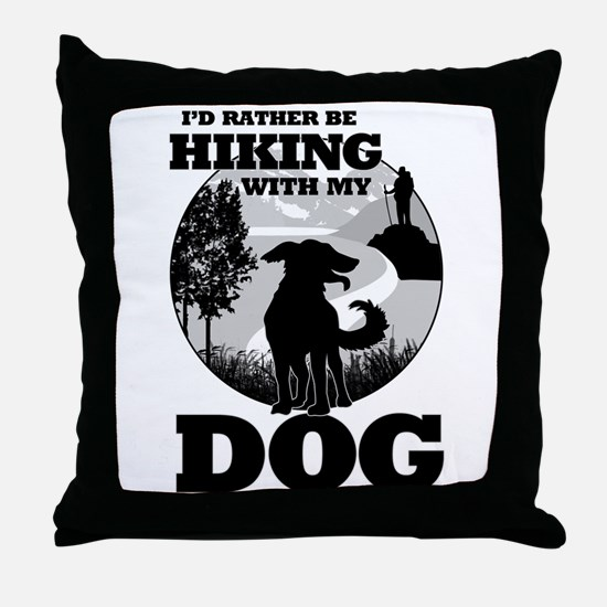I'd Rather Be Hiking With My Dog Scene Throw Pillo